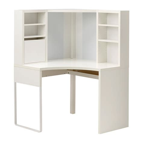 MICKE Poste de travail d'angle   blanc, 100x141 cm   IKEA