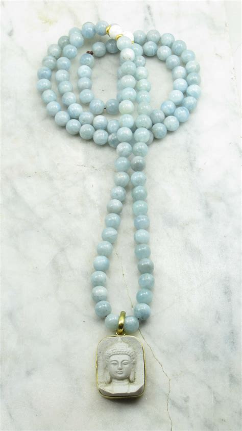 meaning of 108 mala serenity mala necklace 108 aquamarine mala