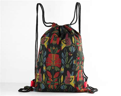 Free Tribal Floral Bag by Small Drawstring Backpack Shoe Bag Laundry Bags Tribal
