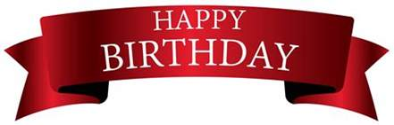 red birthday banner png clipart image gallery