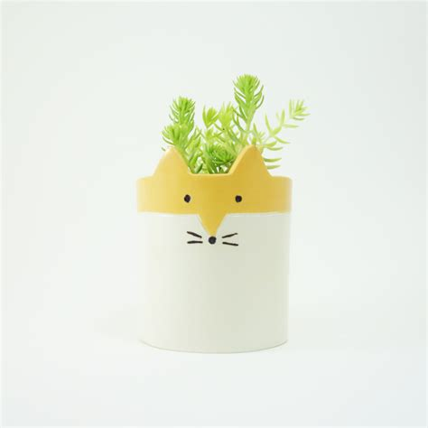 ceramic planter with saucer ceramic planter with saucer fox succulent or by