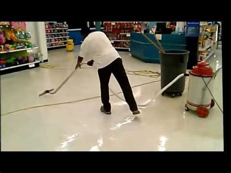 Stripping & Waxing Vinyl Tile Floors Using a Stripping