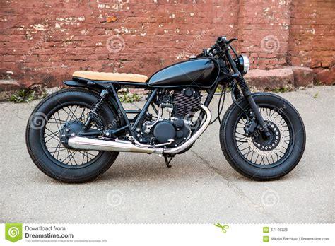 motogrotto vintage custom cafe racer bike build for bmw black vintage custom motorcycle cafe racer stock photo