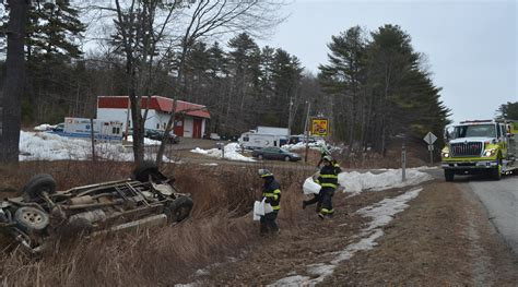lincoln county newspaper maine driver falls asleep flips car on route 1 the lincoln