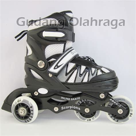 Skate Sepatu Roda Anak Ban Pu Karet Berkualitas jual sepatu roda bajaj ban karet inline skate pu wheels anak dan dewasa gudang olahraga