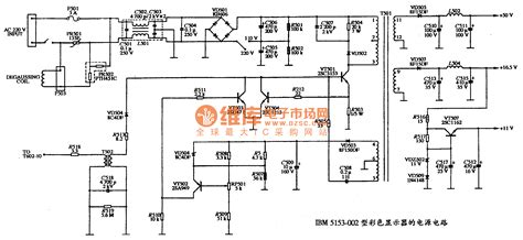 power diagram gt circuits gt the power supply circuit diagram of ibm 5153