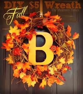 Diy fall wreath autumn pumpkin leaves fall dollarcrafts the