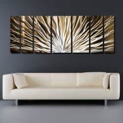modern wall decals for living room modern living room with gold silver abstract metal art