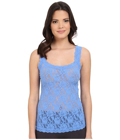 Camisole Forget Me Not Charita Pink hanky panky signature lace unlined cami forget me not 6pm
