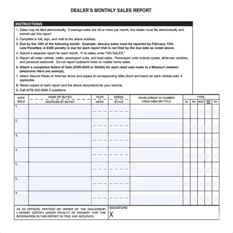 sle of report card 6 free sales report templates excel pdf formats