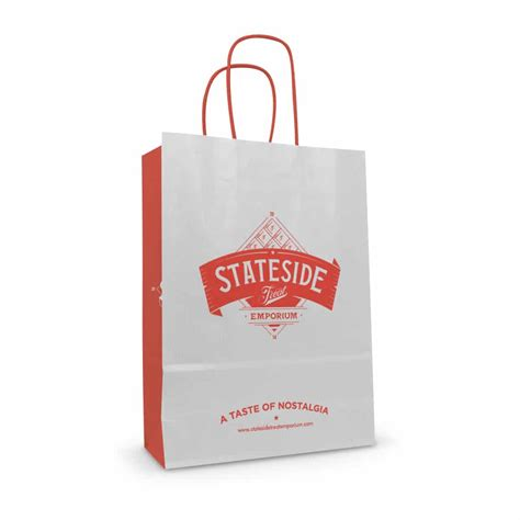 Printed Bag printed twisted handle paper bags the printed bag shop