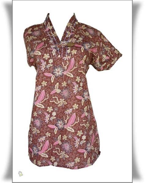 Blouse Pakaian Wanita Baby Dol Tile Pink store co id model baju batik wanita mode fashion