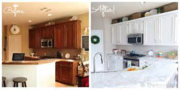 Before And After White Kitchen Cabinets The Moment You Ve Been Waiting For Our White Kitchen Makeover Reveal Decorchick
