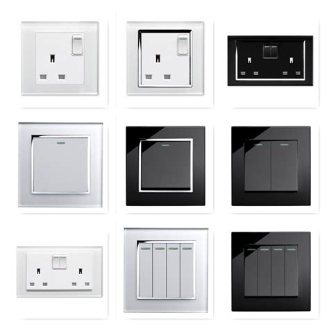 modern light switch covers retrotouch black white glass rocker light switches plug