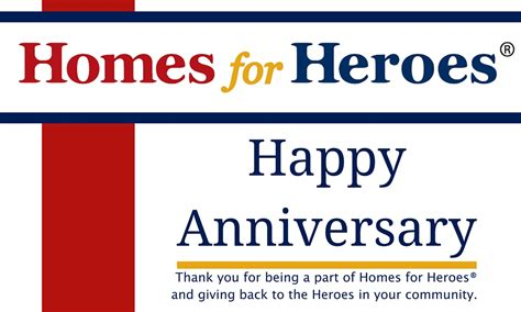 homes for heroes 174 affiliate anniversaries in october
