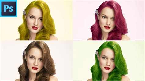 How To Change Hairstyle In Photoshop Cs6 by Photoshop Cc Change Hair Color Photoshop Cc Change Hair