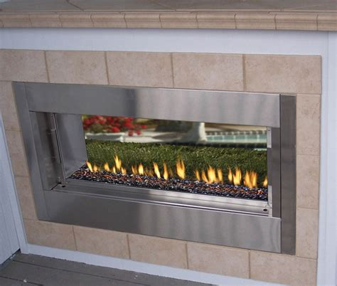 linear outdoor fireplace fmi berlin lights 44 quot linear vent free outdoor fireplace