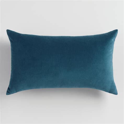 Back Pillows by Midnight Blue Velvet Lumbar Pillow World Market