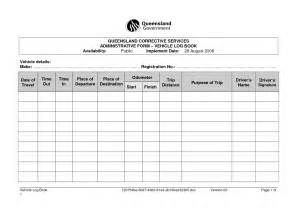 motor vehicle log book template best photos of vehicle log book sle motor vehicle log