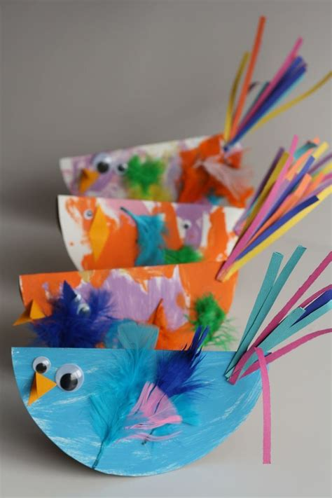 Paper Craft Classes - paper plate bird craft for easy and so