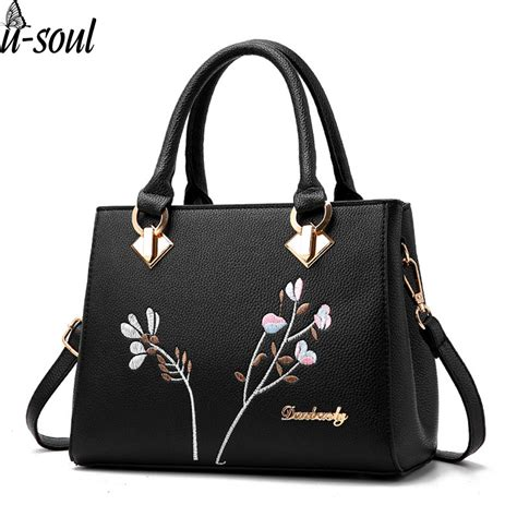 Tote Bag Pu Leather Import handbag flower shoulder bags pu leather tote bag bags brands totes sac
