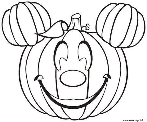 silly pumpkin coloring pages coloriage disney mickey mouse citrouille halloween dessin