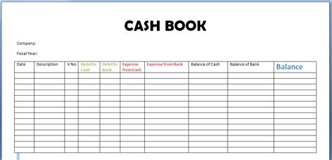 pin petty cash book templates on pinterest