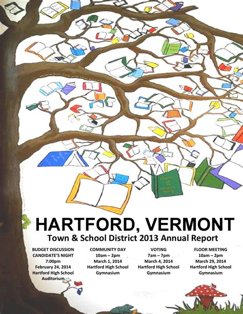 sle of school annual report town school annual report 2013 by town of hartford vt