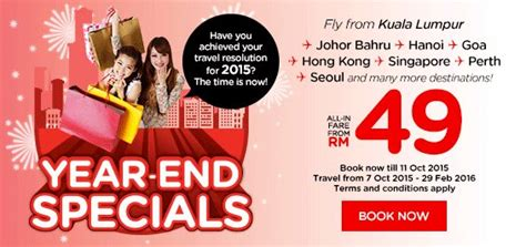 airasia year end sale airasia year end promotion from rm49 airasia promotion 2018