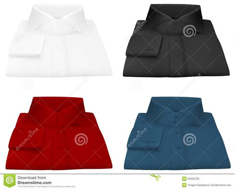 Folded Shirt Card Template by Blank Shirt Template Stock Photo Image 32053730