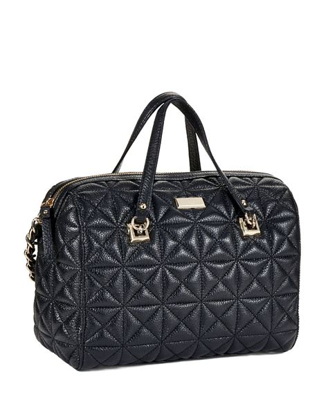 Quilted Kate Spade Handbag by Kate Spade Quilted Leather Handbag In Black Lyst