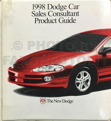 how to fix cars 1998 dodge avenger windshield wipe control 1998 chrysler sebring dodge avenger repair shop manual original 2 volume set