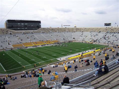 notre dame stadium bench seat notre dame stadium section 113 rateyourseats