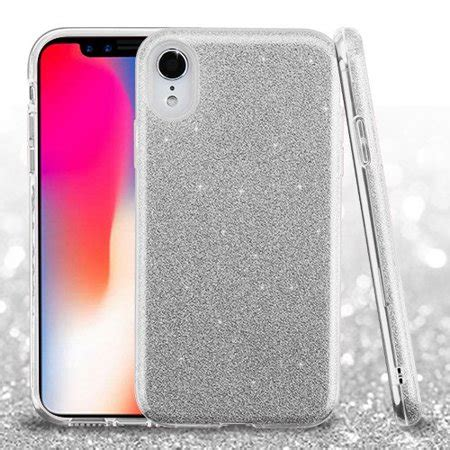 for iphone xr glitter sparkle bling phone hybrid impact protector cover walmart