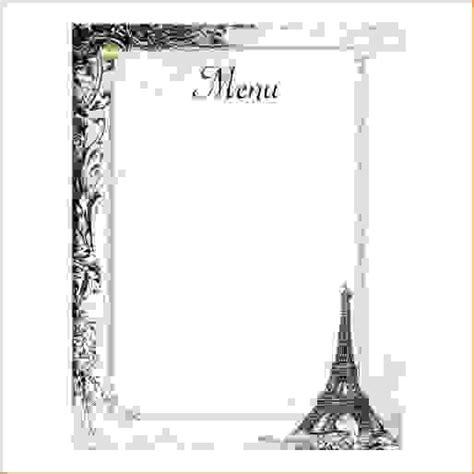 8 french menu template procedure template sle