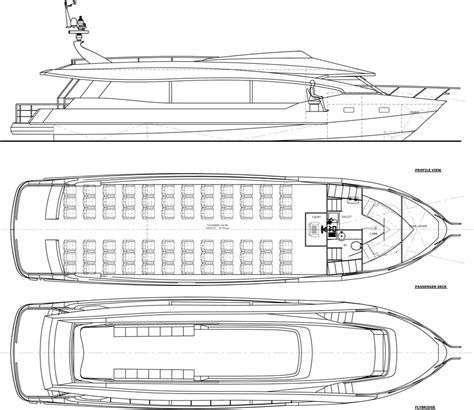 aluminum boat floor plans high speed aluminum passenger boat 80pax ava yachts