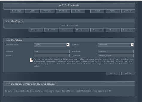 linux tutorial websites linux tutorial proftpd con mysql y administrador web