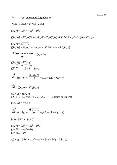 dispense matematica generale funzioni omogenee dispense