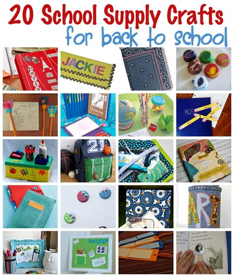 crafts for school 20 school supply crafts for back to school quot popular pins