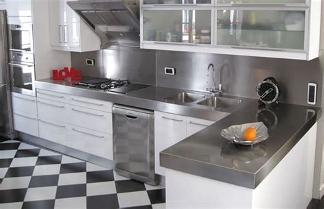 plan de travail cuisine inox sur mesure plan de travail cuisine les mod 232 les 224 adopter c 244 t 233 maison