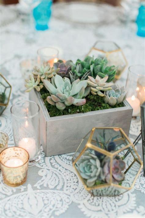 elegant succulent wedding centerpiece ideas roses rings