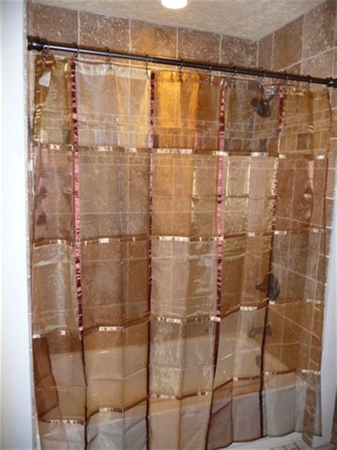 terracotta shower curtain com ex cell home fashions mosaic fabric shower