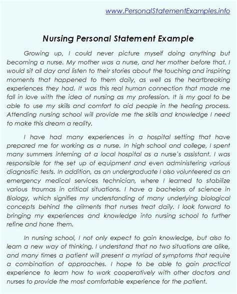 Nursing Phd Mba Programs by Professional Nursing Personal Statement Exles Http