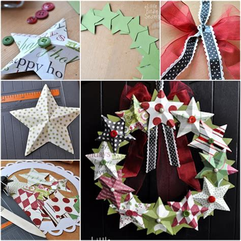the perfect diy 3d paper star wreath ornaments the