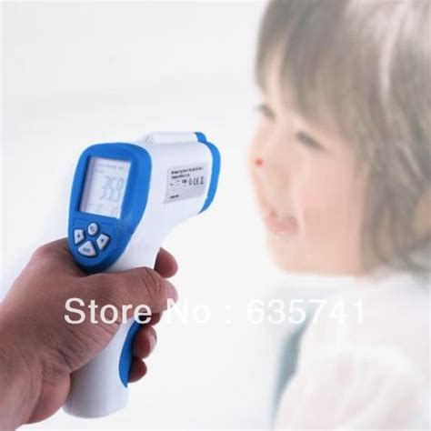Baby Child Temperature Gun Non Contact Infrared Laser lcd non contact ir laser gun infrared digital thermometer baby thermometers free shipping