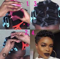 easy roller set style for your twa by kinkzandcurlz