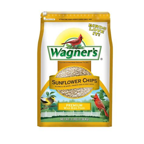 wagner s 3 lb sunflower chips wild bird food 57051 the