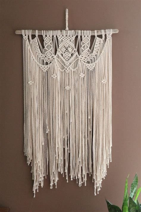 Macrame Wall Hanging Free Patterns - large macrame wall hanging wedding backdrop by