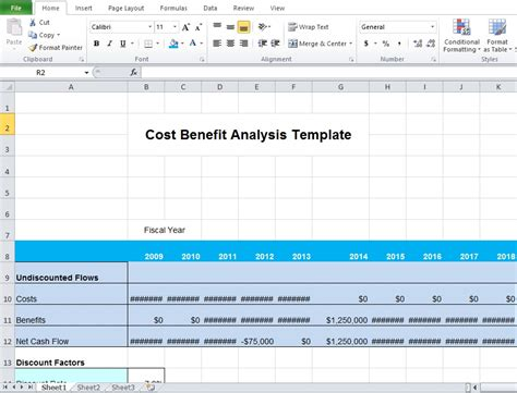 cost benefit analysis template excel microsoft excel tmp