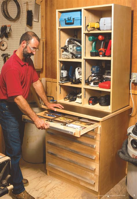 shop storage cabinet plans tool cabinet popular woodworking magazine